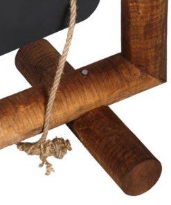Holz Kundenstopper Massimo, Holzaufsteller, Detailsfoto Füsse