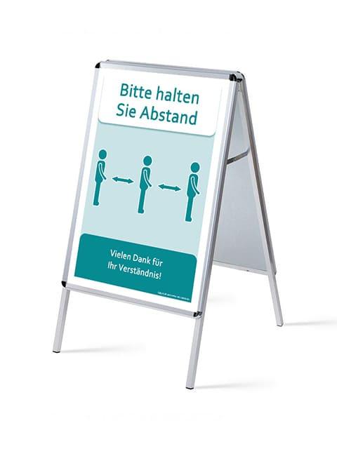Kundenstopper DIN A1 Alu günstig kaufen, Kundenstopper Alu, Strassenständer aus Alu, Gehwegaufsteller A1