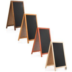 Holz Kundenstopper 93x56cm, Kundenstopper mit Kreidetafel, Werbeaufsteller aus Holz