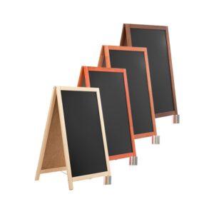 Holz Kundenstopper 93x56cm, Kundenstopper mit Kreidetafel, Werbeaufsteller aus Holz (6)