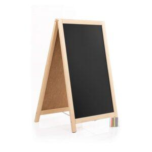 Holz Kundenstopper 93x56cm, Werbeaufsteller aus Holz, Farbe natur