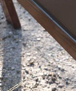 Holz Kundenstopper Robusto 125x70cm, robuster Strassenaufsteller, Holzaufsteller, Distanzkette zum Aufstellen