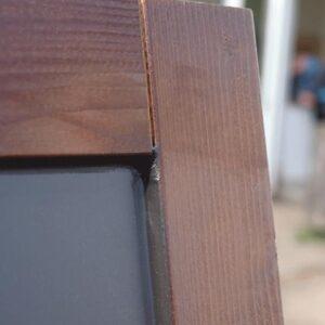 Holz Kundenstopper Robusto 125x70cm, robuster Strassenaufsteller, Holzaufsteller, Silikonversieglung