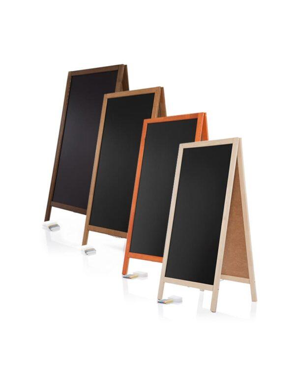Holzaufsteller Kundenstopper mit Kreidetafel in verschiedenen Farben, Kundenstopper für Restaurants (1)