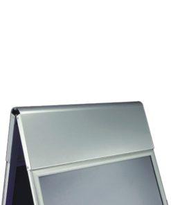 Kundenstopper Classic mit Logoplatte, Kunenstopper aus Aluminium, Werbeaufsteller, Strassenaufsteller, Logoschild, Gehwegaufsteller