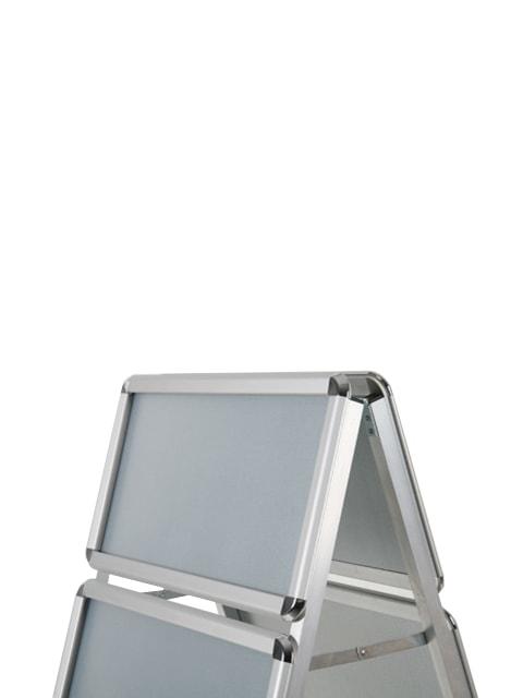 Kundenstopper Classic mit Logoschild, Kundenstopper Alu, Kundenstopper mit Topschild, Detailfoto Logoschild
