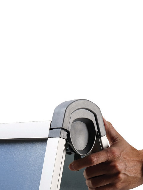 Kundenstopper Easy DIN A1, Arretierkung des Kundenstopper, Kundenstopper aus Aluminium