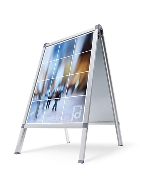 Kundenstopper Easy, Kundenstopper Alu, Kundenstopper mit Arretierung, Kundenstopper DIN A1