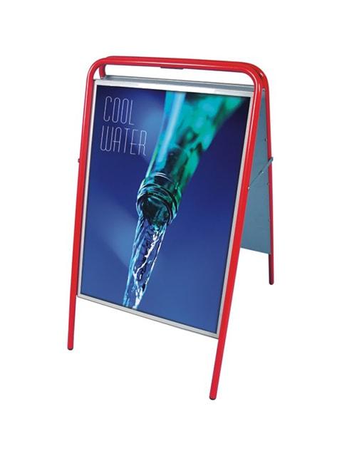 Kundenstopper Stahlrohr Basic, rote Ausführung