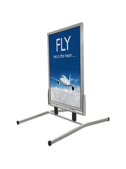 Kundenstopper Windfighter Basic, windfester Werbeaufsteller, Strassenaufsteller wetterfest, Gehwegausteller