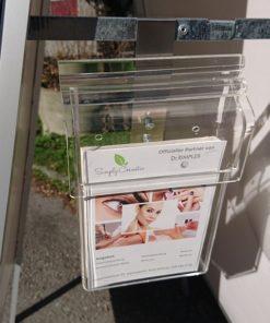 Prospektbox für Kundenstopper, Anwendungsbeispiel 2