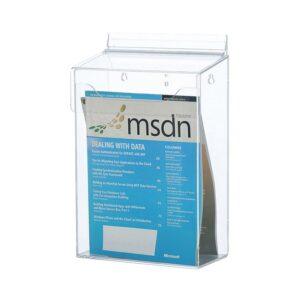 Prospektbox für Kundenstopper, Prospektbox mit Deckel
