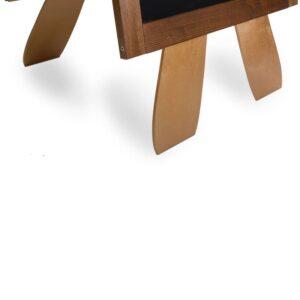 Werbetafel Restaurant mit Löffel und Gabel Ausschnitt Detailansicht der Füsse