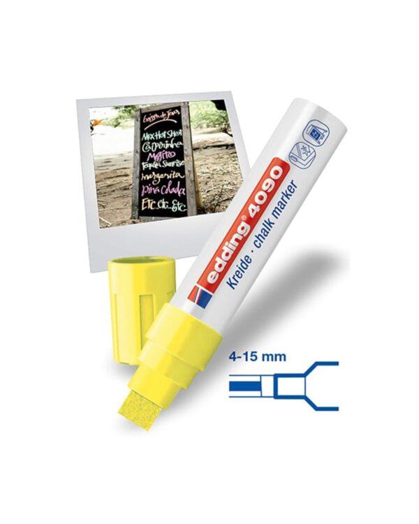 Edding Kreidemarker-Set mit 15mm Spitze, Flüssigkreidemarker, Beschriftung von Kundenstopper, verschiedene Farben