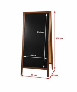 Holz Kundenstopper 158x67cm, Holzaufsteller, Kundenstopper mit Kreidetafel, Strassenaufsteller aus Holz, Vermassung