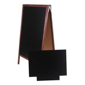 Holz Kundenstopper 158x67cm mit Zusatztafel, Aufsteller mit Kreidetafel, Holzaufsteller, Strassenaufsteller, extra Zusatzftafel für Logo