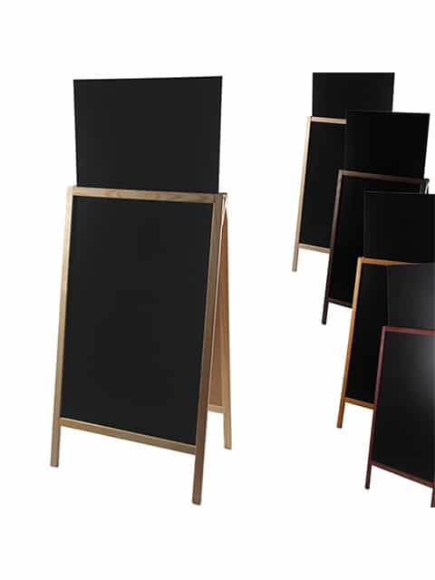 holz kundenstopper 158x67cm mit zusatztafel ab chf 99. Black Bedroom Furniture Sets. Home Design Ideas