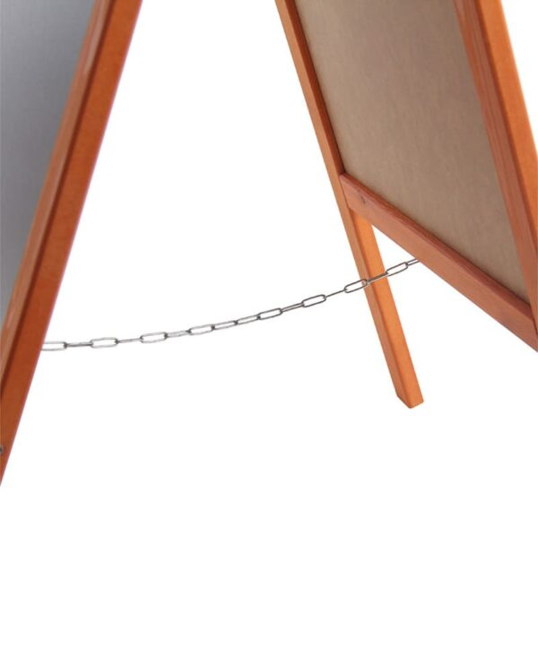 Holz Kundenstopper 89x47cm, Werbeaufsteller aus Holz, Kundenstopper mit Kreidetafel, Abstandskette