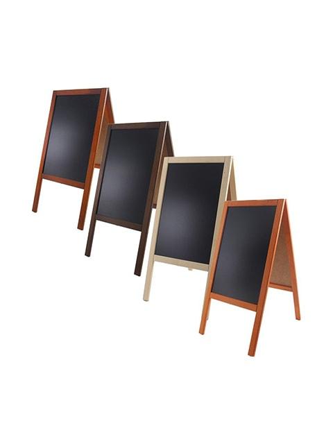 Holz Kundenstopper 89x47cm, Werbeaufsteller aus Holz, Kundenstopper mit Kreidetafel, Holzaufsteller