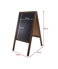 Holz Kundenstopper 89x47cm vermasst, Holzaufsteller