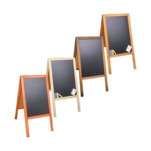 Holz Kundenstopper mit Kreidetafel 89x47cm, Werbeaufsteller aus Holz, Kundenstopper mit Kreidetafel, Holzaufsteller