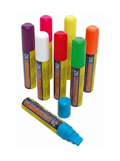 ZIG Kreidemarker-Set mit 15mm Spitze, Flüssigkreidemarker, Kreidemarker verschiedenfarbig, Vorteilspack