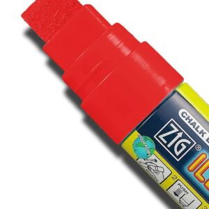 ZIG Kreidemarker mit 15mm Spitze, rot