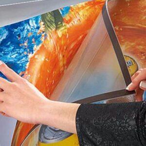 Kundenstopper Antireflex UV-Schutzfolie vom Stahlrohr Kundenstopper