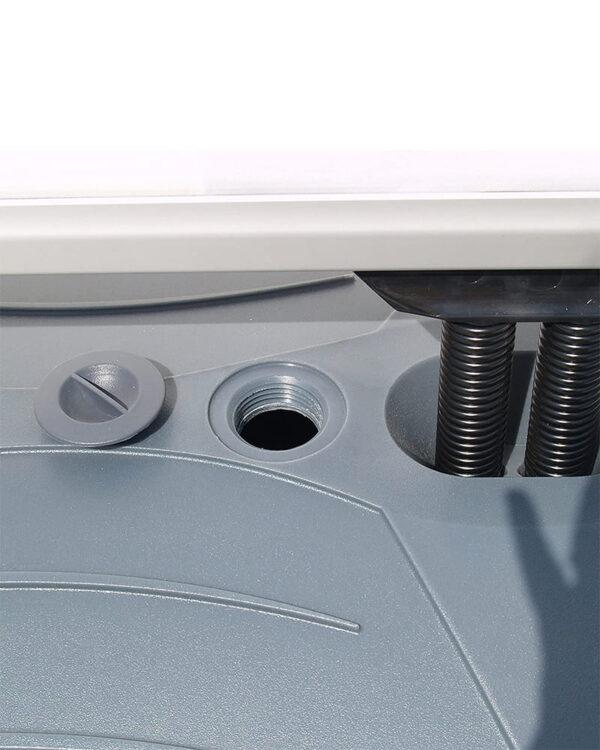 Kundenstopper Basic mit Fusstank, Loch zum auffüllen