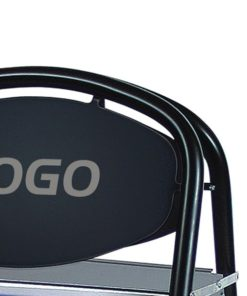 Kundenstopper Stahlrohr Basic Ellipse Logoschild, schwarzer Kundenstopper aus Stahl