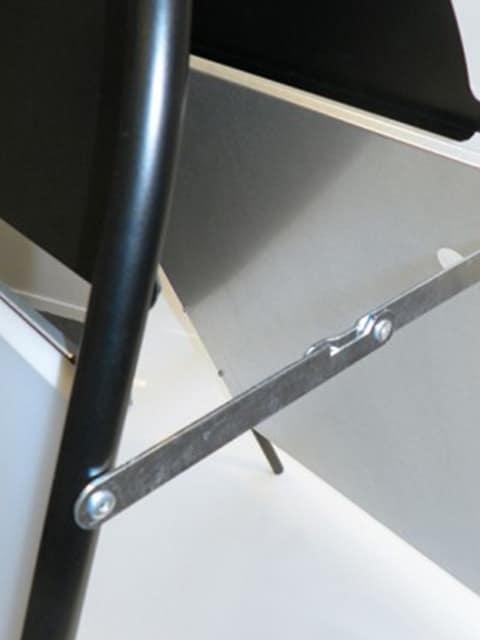 Kundenstopper Stahlrohr Basic Rondo Seitenansicht 1