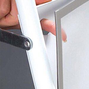 Kundenstopper Stahlrohr Basic mit Logoschild, magnetische Antireflex Schutzfolie