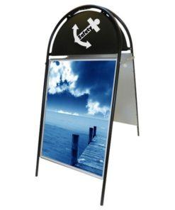 Kundenstopper Stahlrohr Budget Rondo, schwarzes Modell