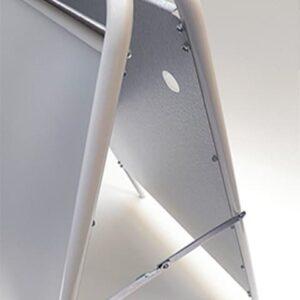 Kundenstopper Stahlrohr Budget-Seitenansicht
