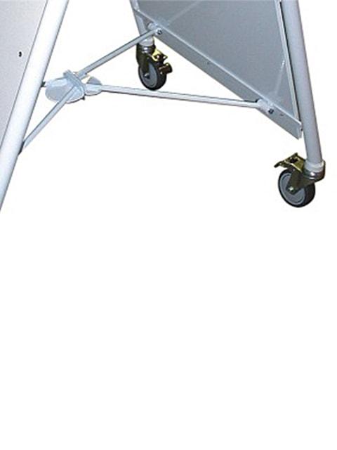 Kundenstopper Stahlrohr Deluxe Rondo Räder, Detailfoto