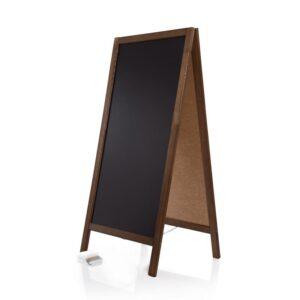 dunkelbrauner Holzaufsteller Kreidetafel für Restaurants und Bars, Holz Kundenstopper dunkel gross