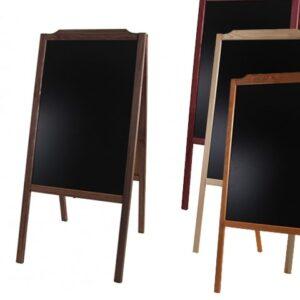 Holz Kundenstopper 107x50cm, dunkelbraun, hellbraun, kastanienbraun, natur
