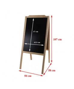 Holz Kundenstopper 107x50cm, dunkelbraun, hellbraun, kastanienbraun, natur, Vermassung