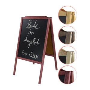 Holz Kundenstopper in verschiedenen Farben, Holzaufsteller mit Kreidetafel verschiedenfarbig