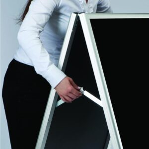 Kundenstopper Classic mit Blackboard, zusammenklappbar