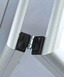 Kundenstopper Classic mit Whiteboard, magnetische Tafel, Ecken auf Gehrung