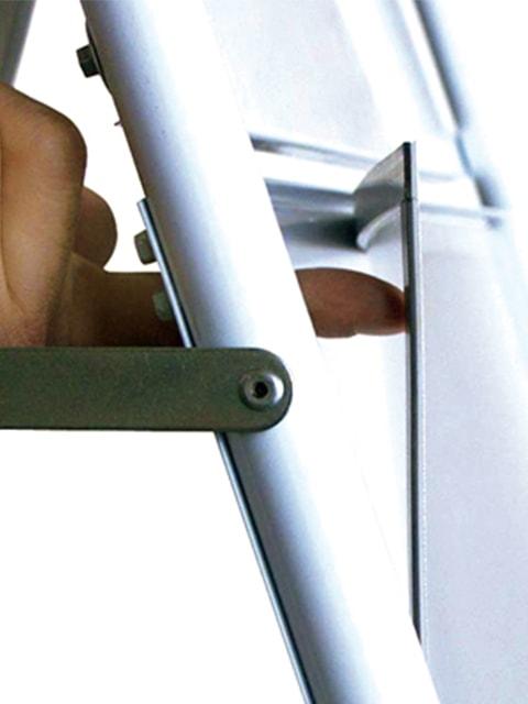Kundenstopper Stahlrohr Fahrradständer Kombi, Antireflex UV-Schutzfolie