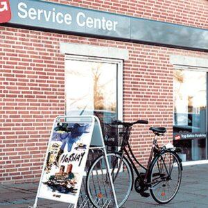 Kundenstopper Stahlrohr Fahrradständer Kombi, Inspirationsfoto