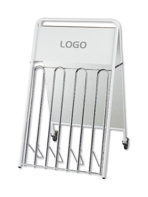 Kundenstopper Stahlrohr Fahrradständer Kombi