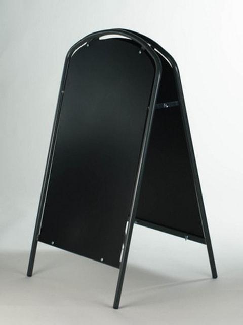 Kundenstopper Stahlrohr Simple mit Kreidetafel, Werbeaufsteller aus Stahl, Strassenständer aus Stahl, Anthrazit 2