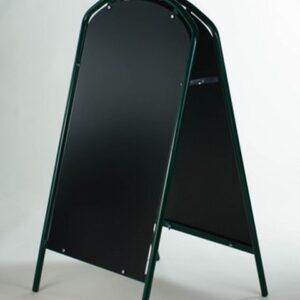 Kundenstopper Stahlrohr Simple mit Kreidetafel, Werbeaufsteller aus Stahl, Strassenständer aus Stahl, Grün 2