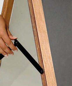 holz kundenstopper 105x70cm, wetterfest, holzaufsteller mit kreidetafel, Detailfoto Seitenwinkel
