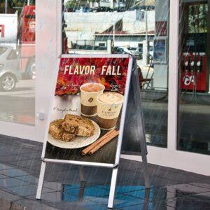 wetterfester Plakat für Kundenstopper, PVC Plakat eingesetzt im Plakatständer