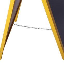 Holz Kundenstopper 140x60cm mit Zusatztafel, Abstandskette zum aufstellen