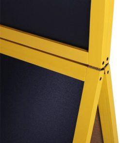 Holz Kundenstopper 140x60cm mit Zusatztafel, Detailfoto der Zusatztafel